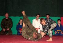 Sekcja judo na pokazie w Gąsawie